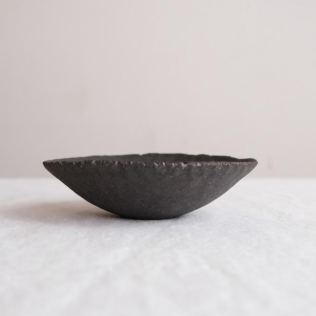 高田かえ 黒土鉢 no.30