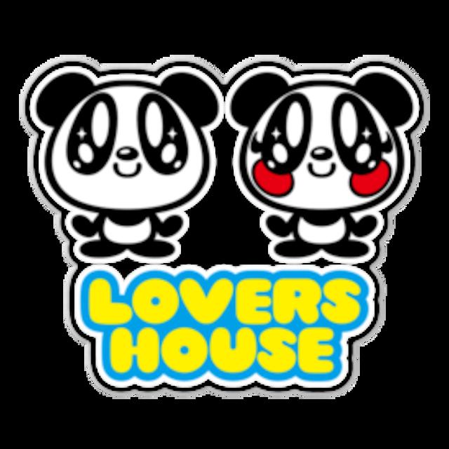 LOVERSHOUSE logo/クリアーステッカー10cm枠内