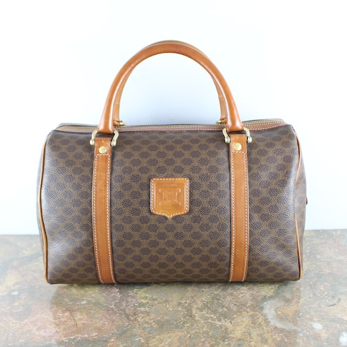 .OLD CELINE MACADAM PATTERNED BOSTON BAG MADE IN ITALY/オールドセリーヌマカダム柄ボストンバッグ2000000051710
