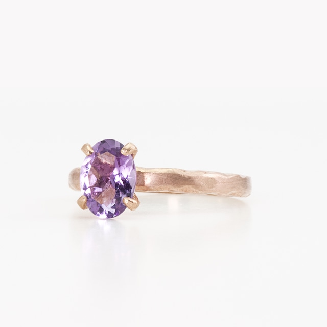 Pink amethyst ring / Four claws