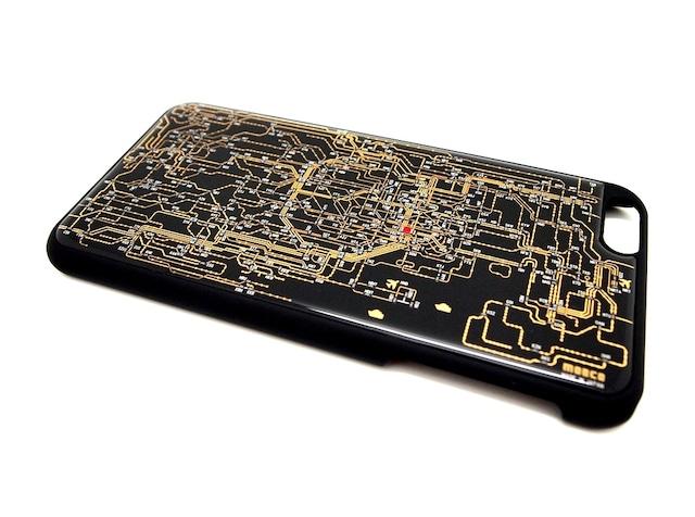 東京回路線図 iPhone6/6s  Plus ケース 黒【LEDは光りません】
