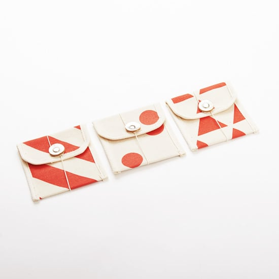 multi card case/vermilion x stripe, scale, dot マルチカードケース / 朱 x 縞・鱗・水玉