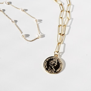 NECKLACE || 【通常商品】 GOLD NECKLACE SET 1 (WHITE) || 2 NECKLACES || GOLD×WHITE || FBA021