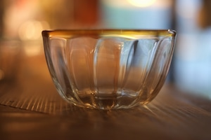 【カンナカガラス工房◆村松学】◆口巻アンバーのモール鉢◆初入荷◆NEW◆