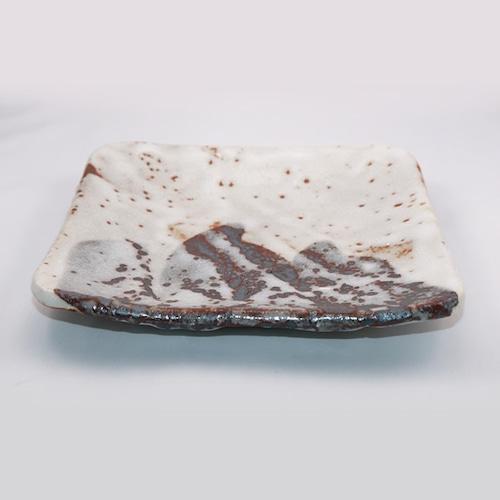 志野 七寸角皿  Shino 7-sun(8.4 inches) Square Plate