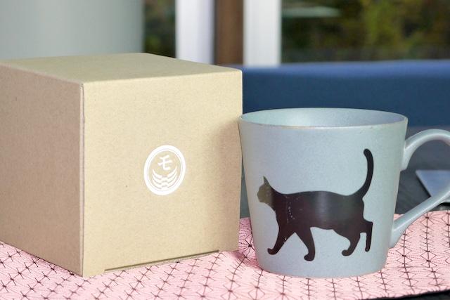 『捜す猫』 『クールグレー』『単品』『 温感グレーズ』*ネコ 猫 マニア キャット マグカップ コーヒー プレゼント カワイイ 温度で変化 笑顔