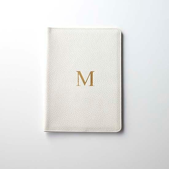 Premium Shrink Leather Initial Book Cover (イニシャル入り手帳カバー(A5サイズ対応))