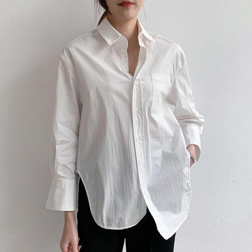 ルーズオーバーホワイトシャツ ・2334