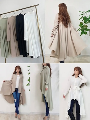 ★outletランクA★ mocoa's エアリードレープシャツ 定価¥6,380