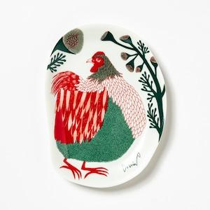 moritaMiW/MiW小皿/裏庭の草むらの鶏  M-67958-00-2