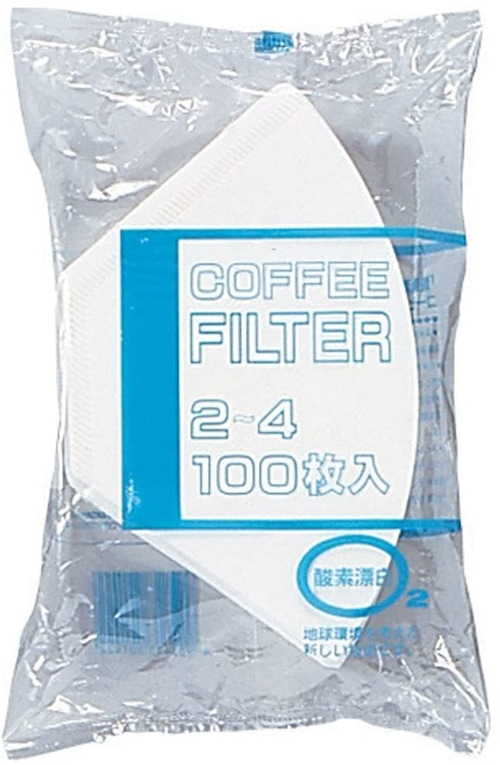 bonmac コーヒー フィルター 2~4杯用 酵素漂白フィルター NB-200S 100枚入り