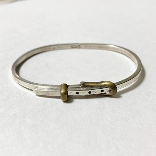 Vintage 925 Silver & Brass Belt Bracelet Made In Mexico
