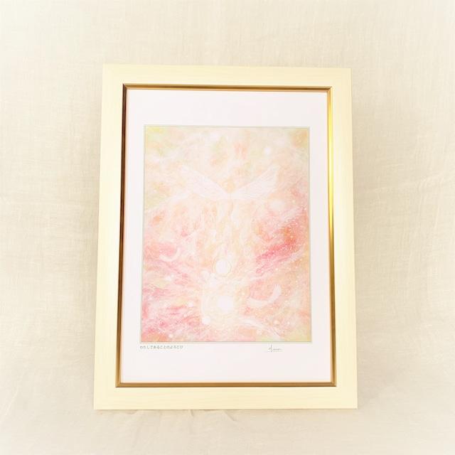 『わたしであることのよろこび』【天使の絵】A4サイズ 額入 ヒーリングアート