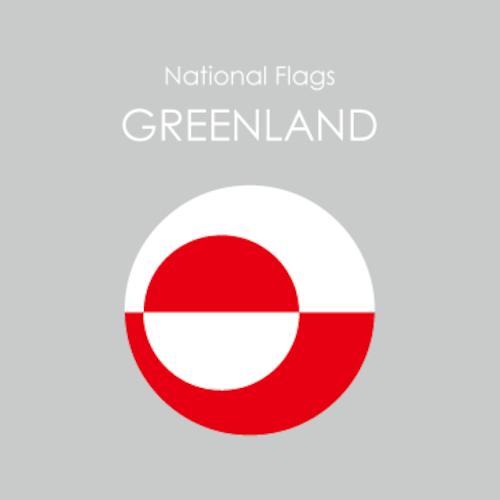 円形国旗ステッカー「グリーンランド」