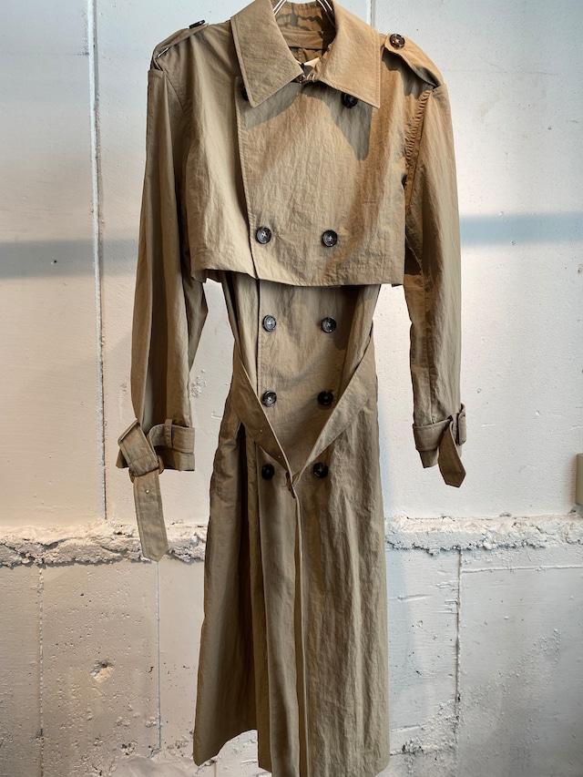GVGV  layered trench coat