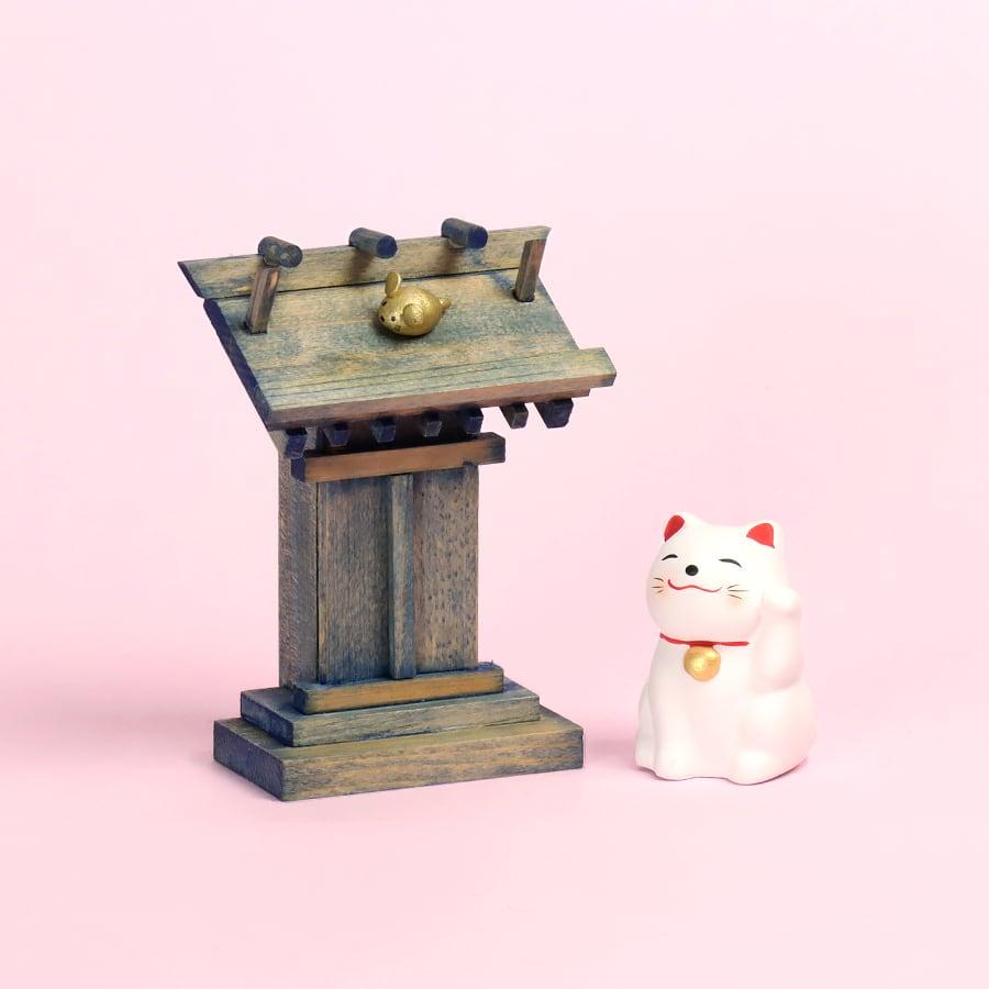 【選べるにゃんこ】にゃんこが守護する 青の神社 / おみくじ飾り