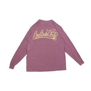 we will chill garment dyed L/S TEE [ BURGUNDY ]