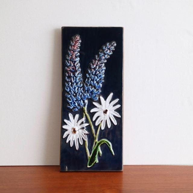 [SOLD OUT] Jie Gantofta ジィ・ガントフタ / 陶板 青と白の花