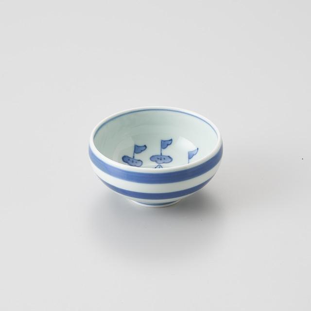 """【青花】""""クラシック異人"""" 丸湯呑(帆船)"""