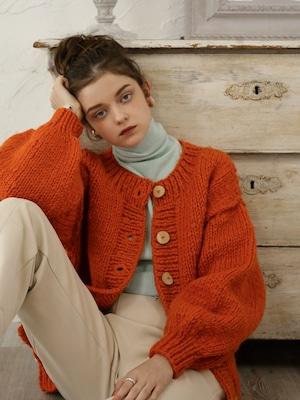 handmade knit cardigan(orange)