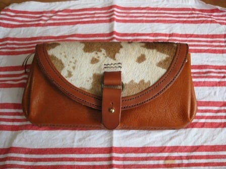 【オーダーメイド制作例】ハラコの長財布    (KA121b1)