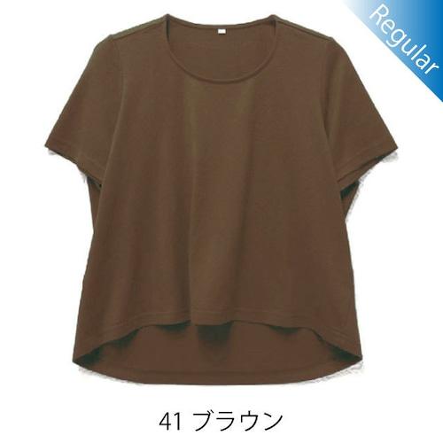 半袖丸首Tシャツ / 41ブラウン / 身長152cm→142cm / アイラブグランマ・スムースネック / 型番TC02-152