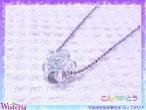 グリーンフローライト×水晶 こんぺいとうペンダント