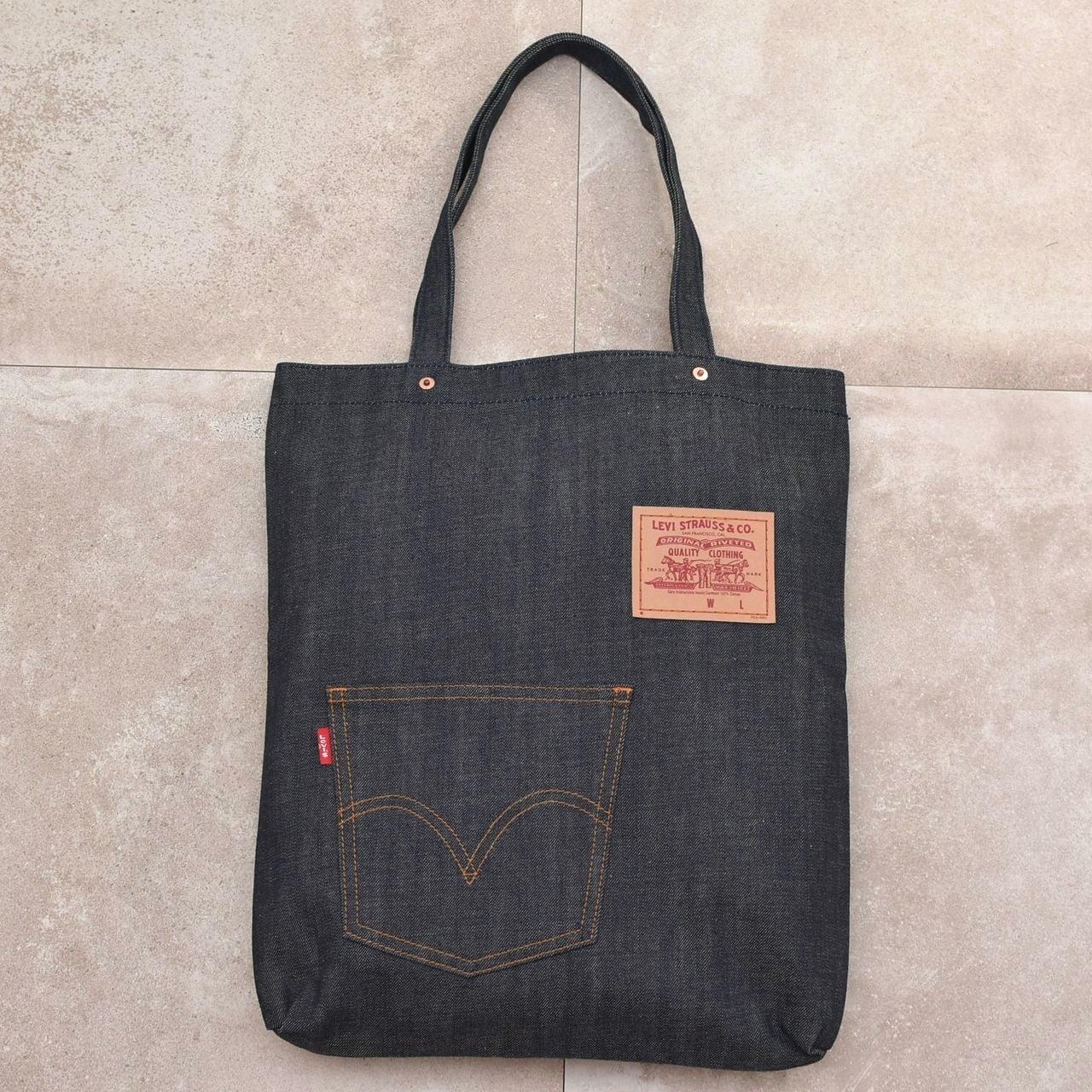 Levi's dark navy denim tote bag