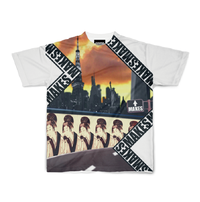 MAKES半袖Tシャツ(MAKES_CITY)5.6オンス