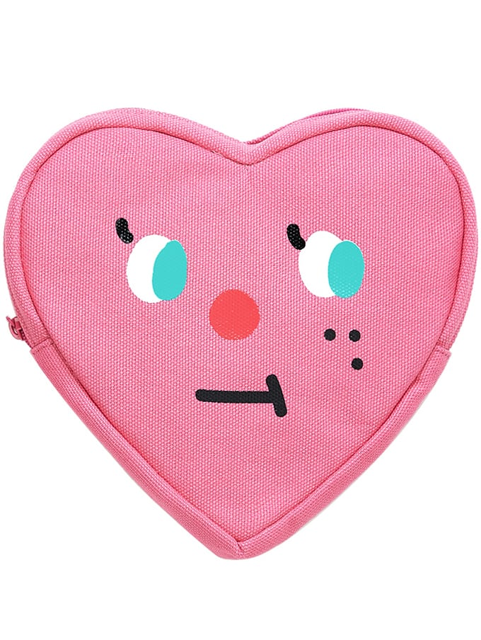 【SLOWCOASTER】PINK HEART POUCH