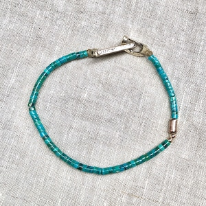 VINTAGE TURQUOISE and USD SILVER COIN BRACELET