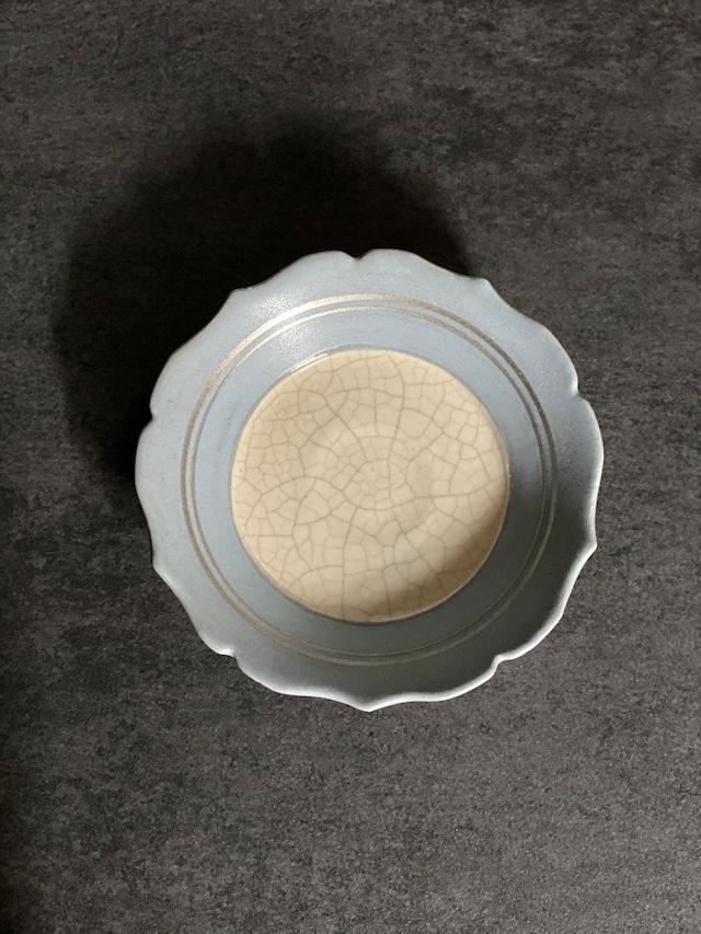 原稔 シアン豆皿
