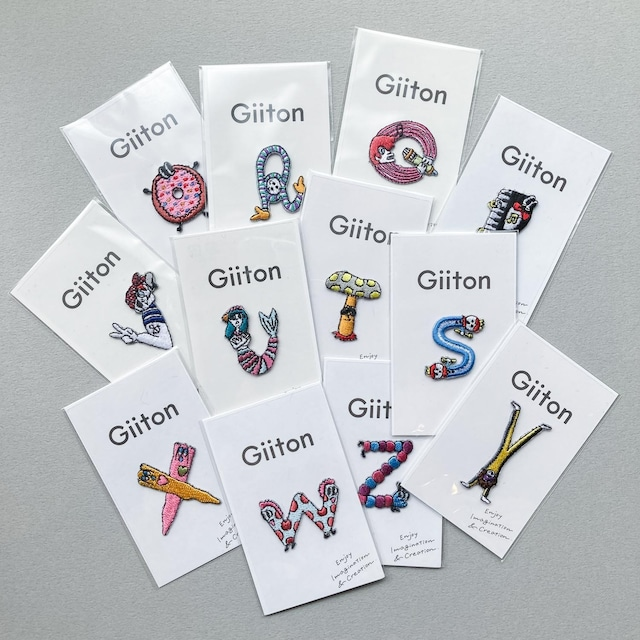 Giiton イニシャルワッペン(O〜Z)