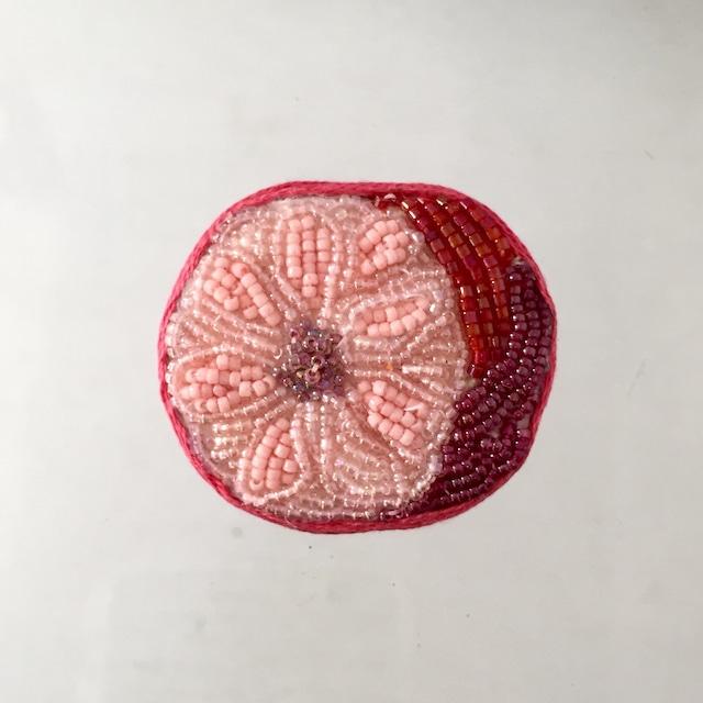 ピンクフラワー(楕円)