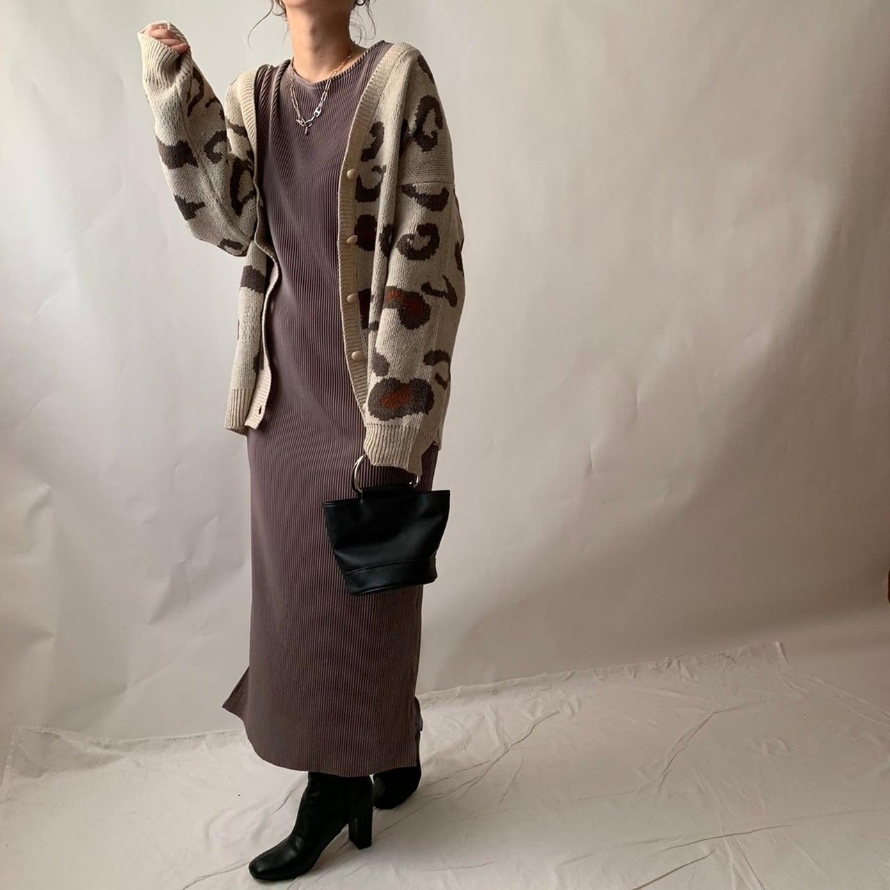 【asyu】moca pleats one-piece