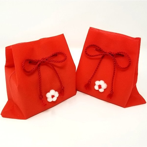 プレゼント梱包「巾着袋」(赤)