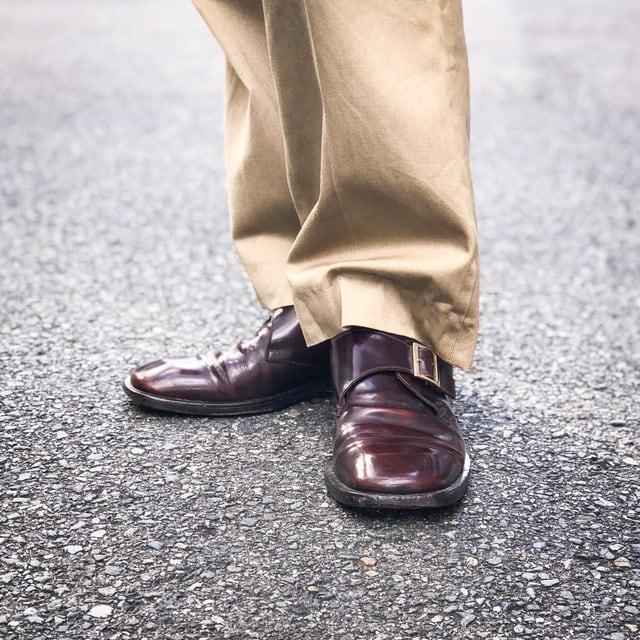 old GUCCI  single monk  strap shose