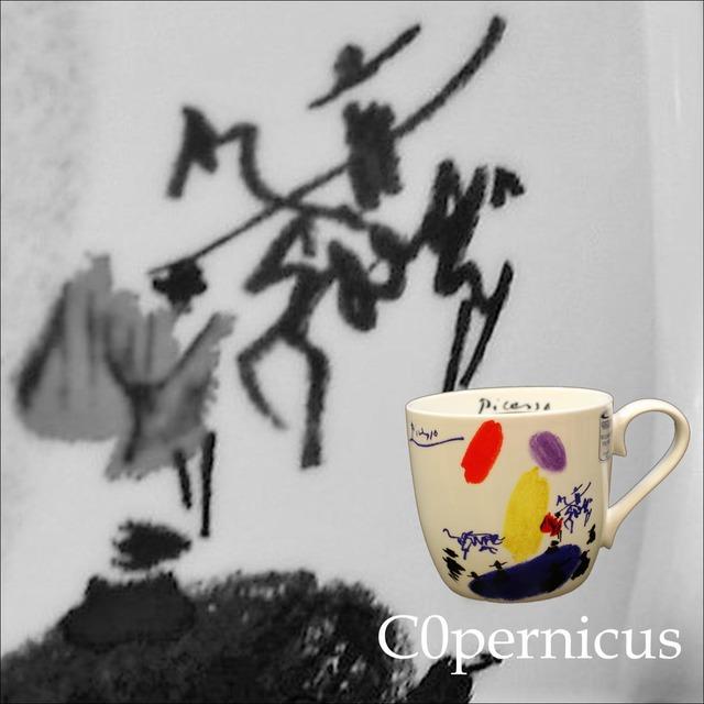 Picasso Corrida  コリーダ(闘牛)【artマグカップ】   浜松雑貨屋C0pernicus(電子レンジ、食器洗浄機にも対応)