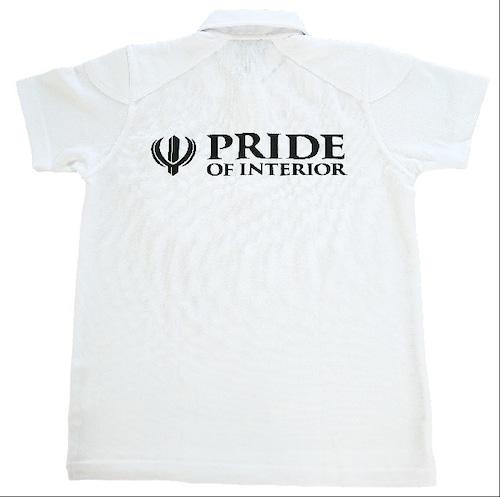 PRIDE OF INTERIOR ポロシャツ ホワイト