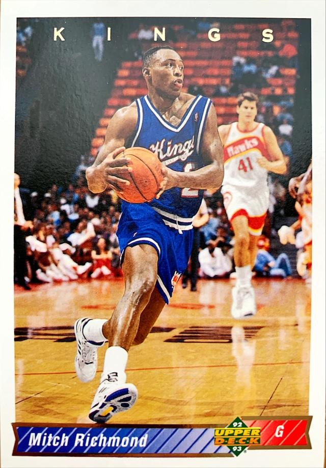 NBAカード 92-93UPPERDECK Mitch Richmond #162 KINGS