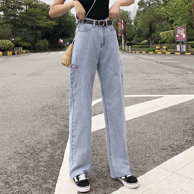 【ボトムス】カジュアルストリート系デニムパンツ43148697