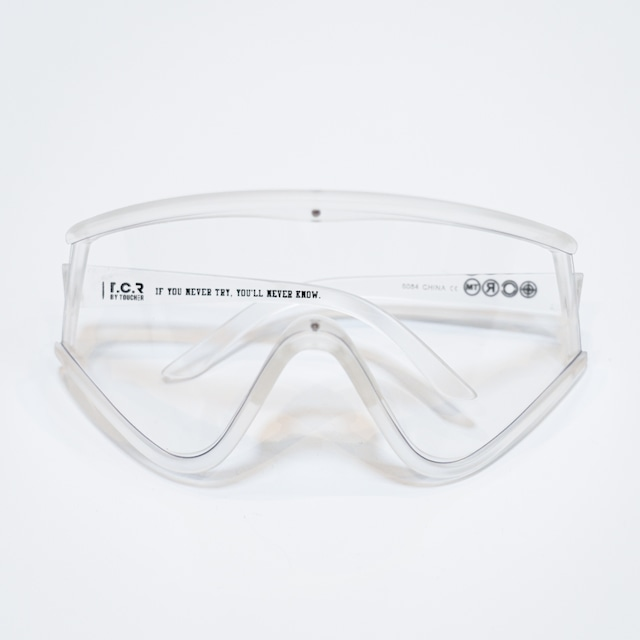 T.C.R OVERSIZED SHIELD SUNGLASS - EXCLUSIVE - CLEAR