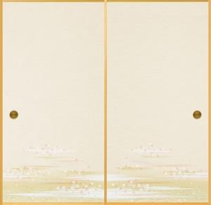 日新805(2枚柄) 織物ふすま紙 203cm×100cm 2枚1組セット