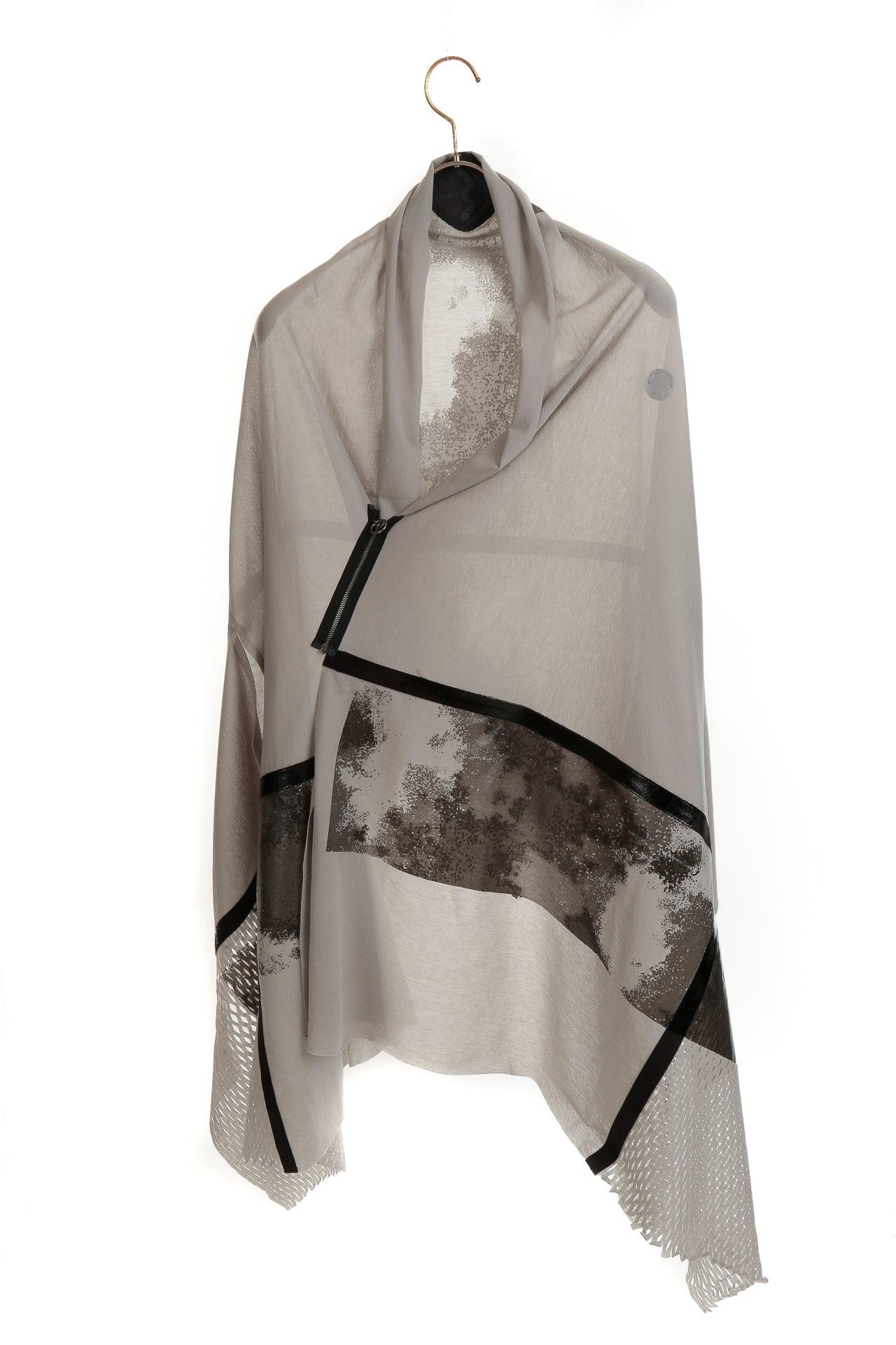[着るアートストール] HAORI ANGEL【COTTONコットン】ハオリエンジェル KABUKU  SILVERGRAY×GRAY  202022[送料/税込]