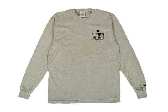 "【""USA"" vintage long sleeve】/ sand"