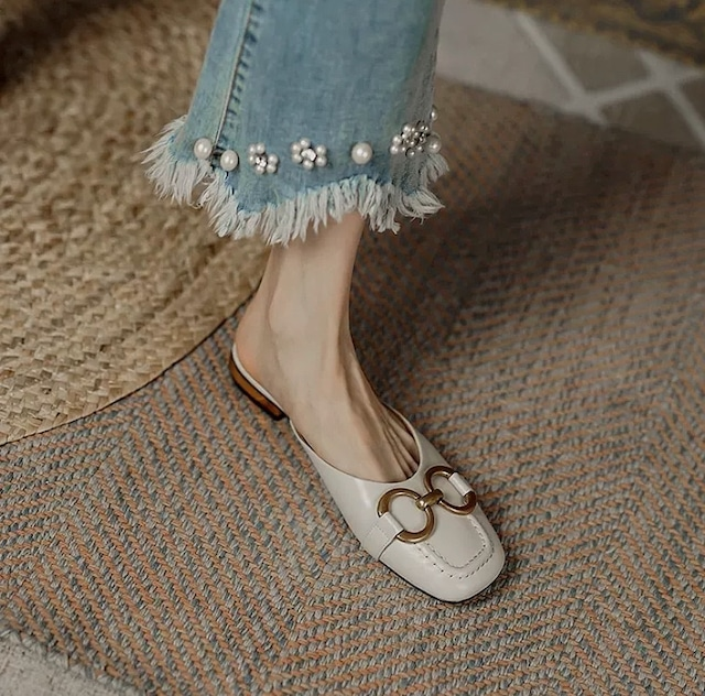 gold chain shoes 2color