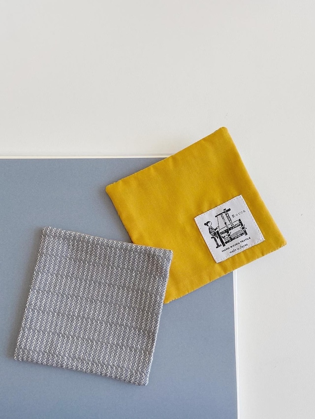 手織りコースター(HAND WOVEN Coaster Alinea )