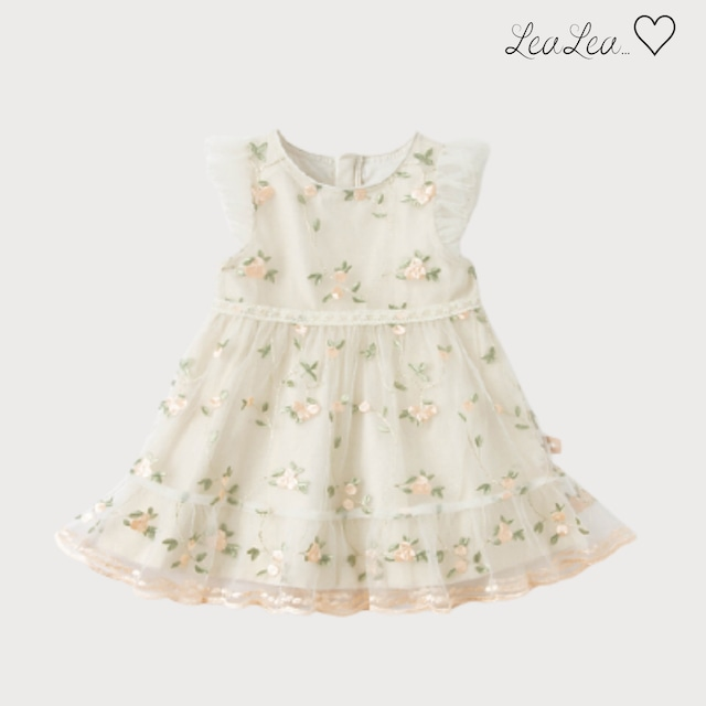 dave&bella♡フラワー刺繍Aラインドレス(73-140cm)| LeaLea...♡(レアレア)-海外の子供服セレクトショップ