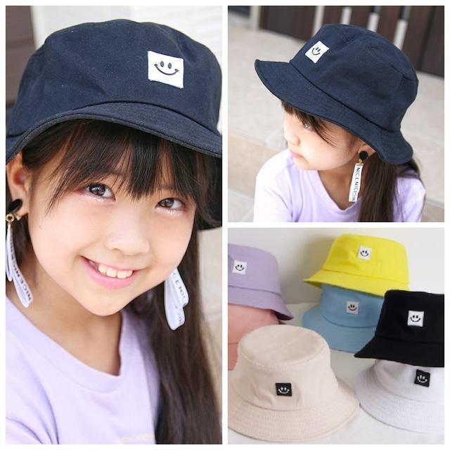 2サイズ 7カラー ★ 帽子 ハット smileマーク カジュアル パステルカラー