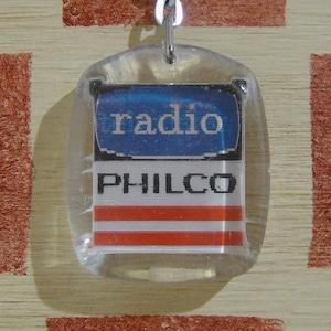 アメリカ PHILCO[フィルコ]家電ラジオ&テレビ広告 文字が変わるノベルティキーホルダー